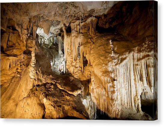Stalagmites Canvas Print - Nerja Caves In Spain by Artur Bogacki