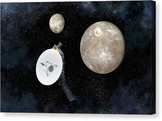 Pluto Canvas Print - New Horizons At Pluto by Take 27 Ltd