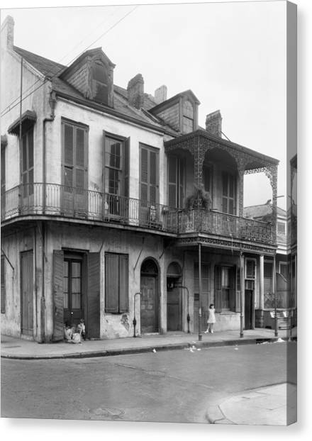New Orleans House Canvas Print by Granger