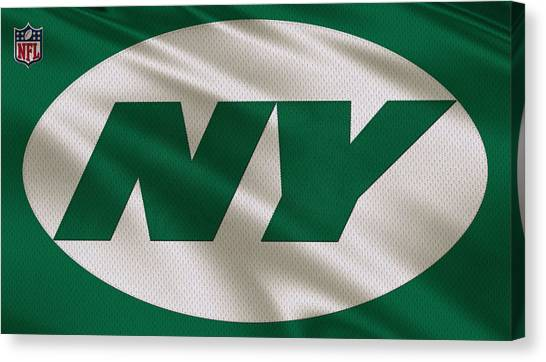 New York Jets Canvas Print - New York Jets Uniform by Joe Hamilton