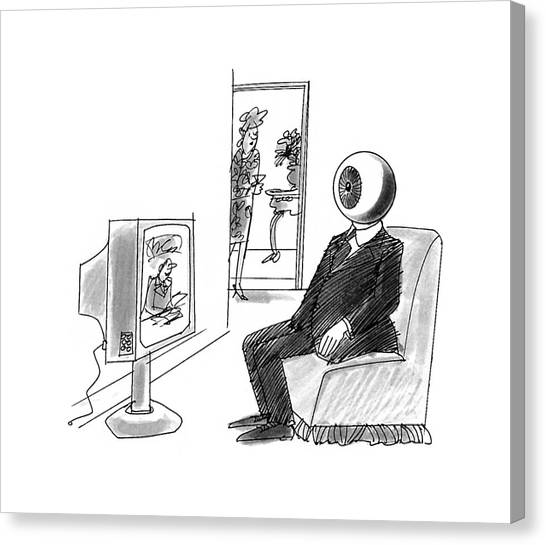 Magritte Canvas Print - New Yorker October 12th, 1992 by Kenneth Mahood