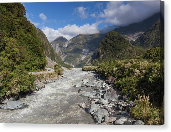 Fox Glacier Canvas Print - New Zealand, South Island, Fox Glacier by Walter Bibikow