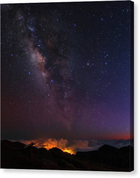 La Galaxy Canvas Print - Night Sky Over La Palma by Babak Tafreshi