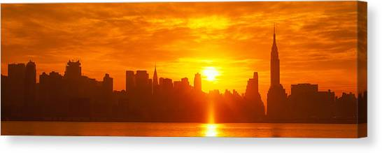 City Sunrises Canvas Print - Nyc, New York City New York State, Usa by Panoramic Images