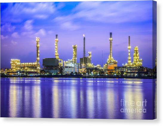 Oil Refinery Plant Canvas Print