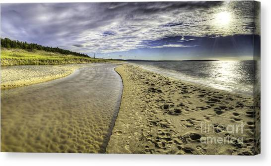 Oneida Canvas Print - Otter Creek And Lake Michigan by Twenty Two North Photography