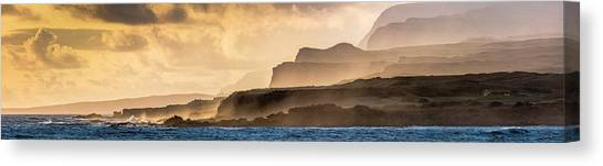 Canvas Print - Panoramic Of Molokais North Shore Sea by Richard A Cooke Iii.