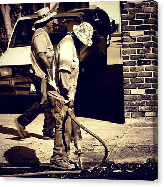 Jackhammers Canvas Print - #photography , #photooftheday by Tony Martinez