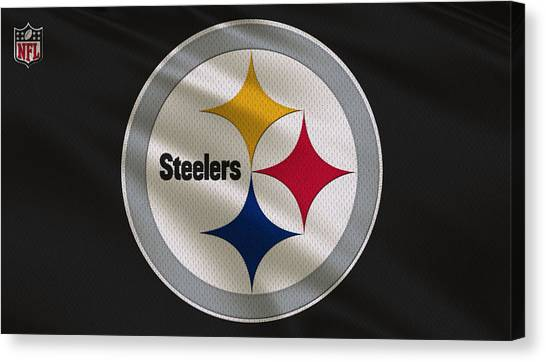 Pittsburgh Steelers Canvas Print - Pittsburgh Steelers Uniform by Joe Hamilton