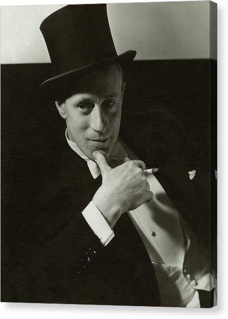Chin Canvas Print - Portrait Of Leslie Howard by Edward Steichen