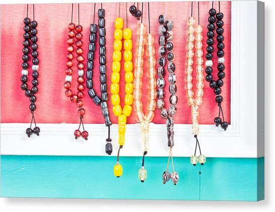 Good Luck Canvas Print - Prayer Beads by Tom Gowanlock