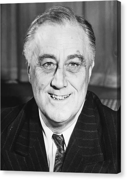 Franklin D. Roosevelt Canvas Print - President Franklin Roosevelt by Underwood Archives