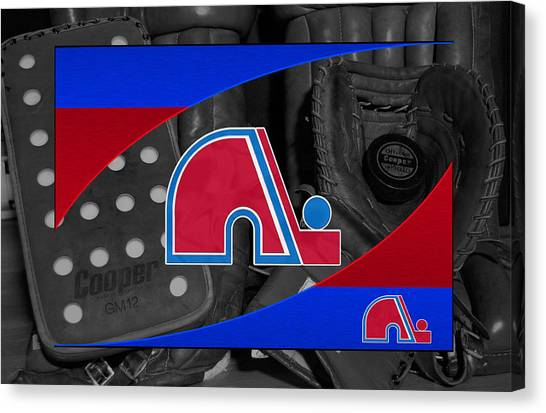Quebec Canvas Print - Quebec Nordiques by Joe Hamilton