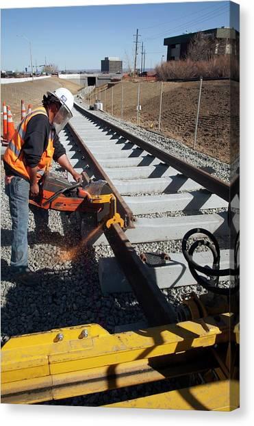 Light Rail Canvas Print - Railway Construction by Jim West