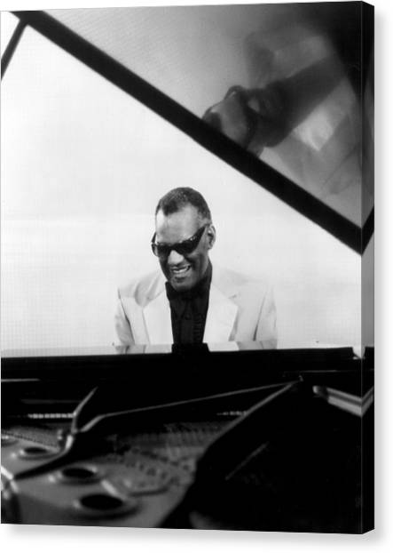 Trombones Canvas Print - Ray Charles by Retro Images Archive