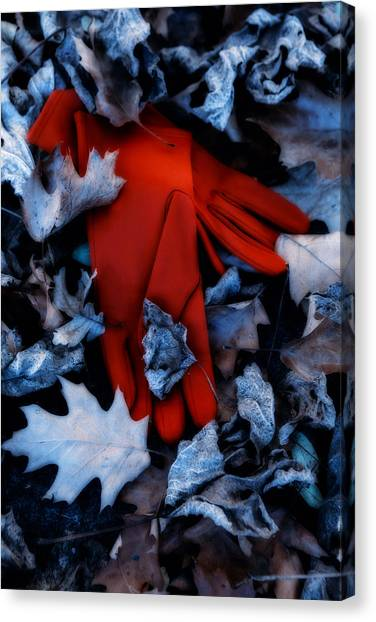 Kidnapped Canvas Print - Red Gloves by Joana Kruse