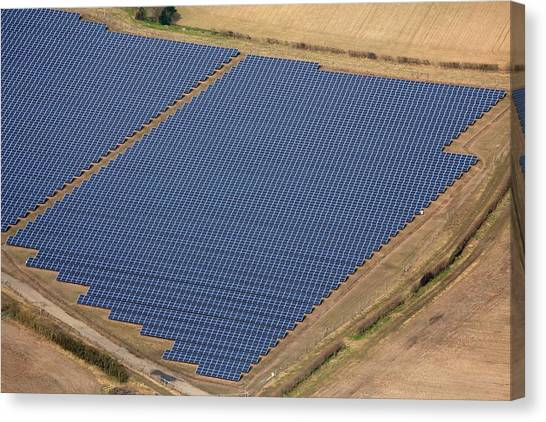 Solar Farms Canvas Print - Reydon Solar Farm by Victor De Schwanberg