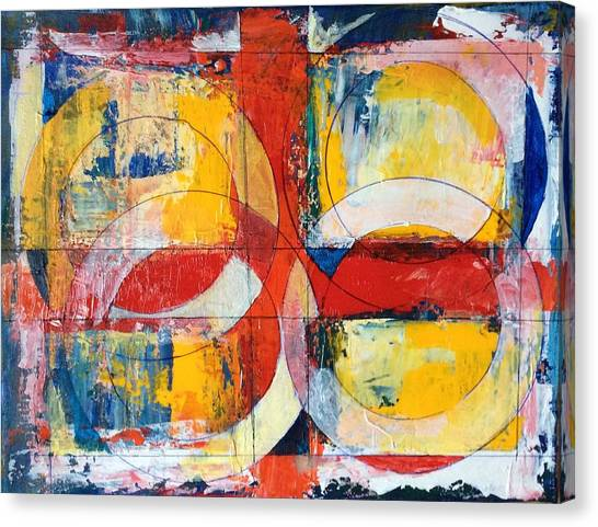 4 Rings 4 Squares Canvas Print by Mark Opdahl