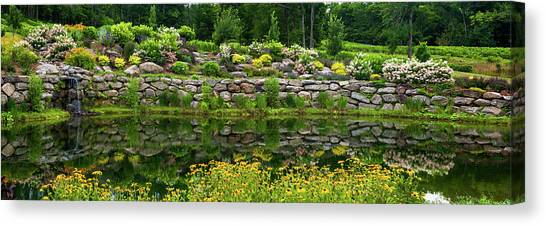 Quebec Canvas Print - Rocks And Plants In Rock Garden by Panoramic Images