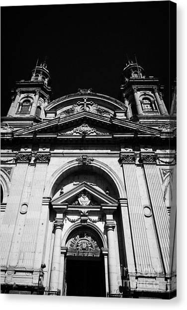 Santiago Metropolitan Cathedral Chile Canvas Print by Joe Fox