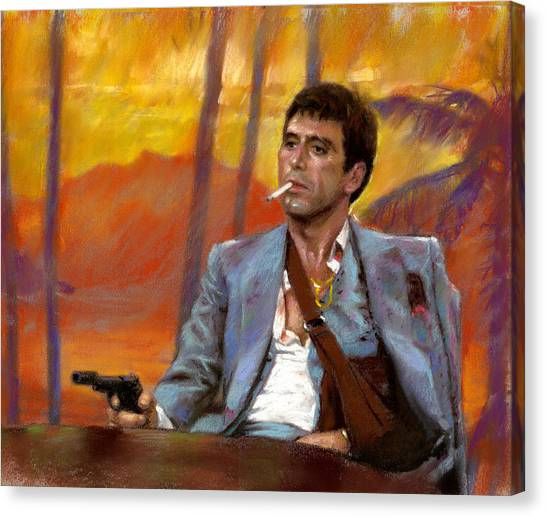 Scarface Canvas Print - Scarface by Viola El