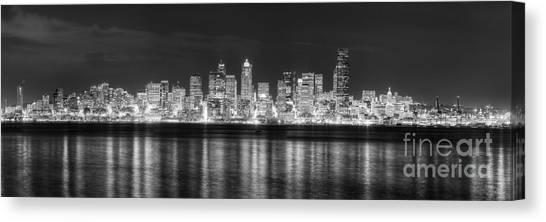 Seattle Skyline Canvas Print - Seattle Skyline by Twenty Two North Photography