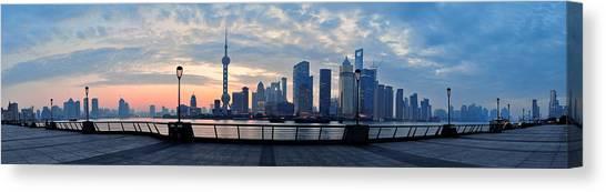 Shanghai Morning Canvas Print