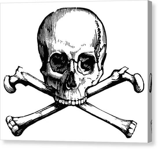 Skull And Crossbones Canvas Print by Granger