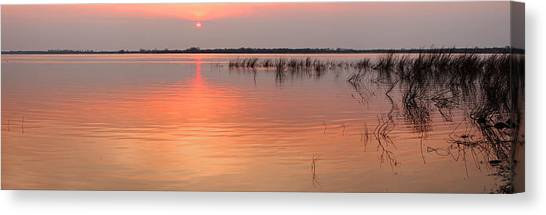 Sunset  River Panorama Canvas Print