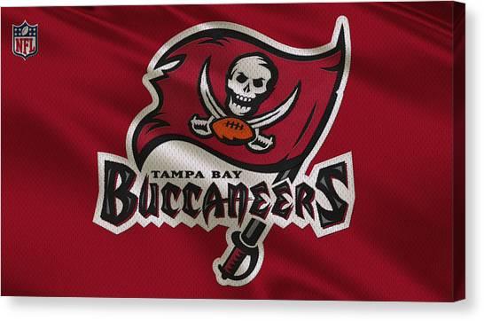 Tampa Bay Buccaneers Canvas Print - Tampa Bay Buccaneers Uniform by Joe Hamilton