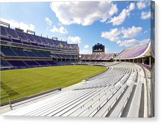 Big Xii Canvas Print - Tcu Amon G. Carter Stadium by John Babis