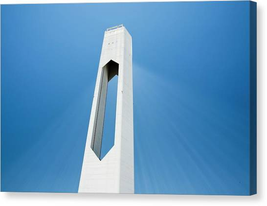 Clean Energy Canvas Print - The Ps20 Solar Thermal Tower by Ashley Cooper