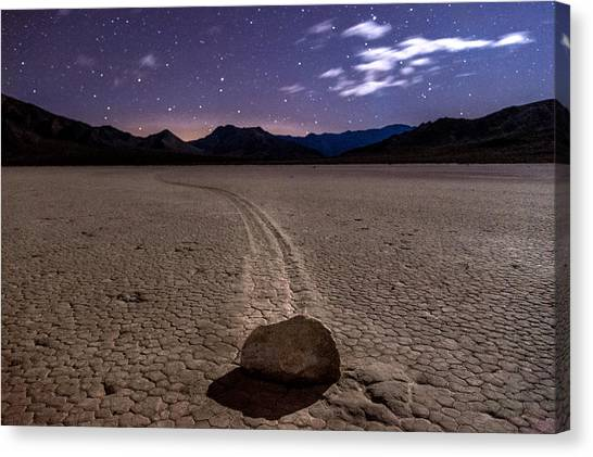 Death Valley Canvas Print - The Racetrack by Cat Connor