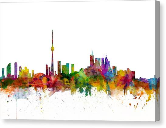 Canadian Canvas Print - Toronto Canada Skyline by Michael Tompsett