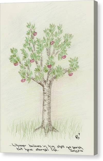 4 Trees-4th Tree Summer Canvas Print
