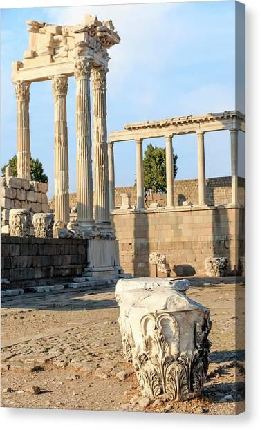 The Acropolis Canvas Print - Turkey, Izmir Province, Bergama by Emily Wilson