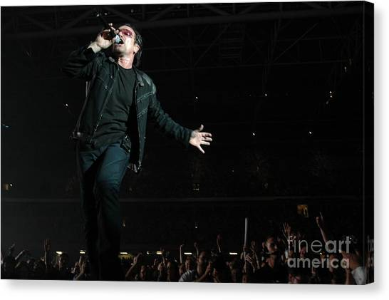Bono Canvas Print - U2 by Jenny Potter