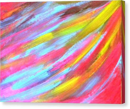 Under Angel's Wings Canvas Print