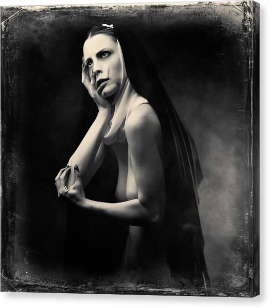 Nuns Canvas Print - Untitled by Alexandra Fira