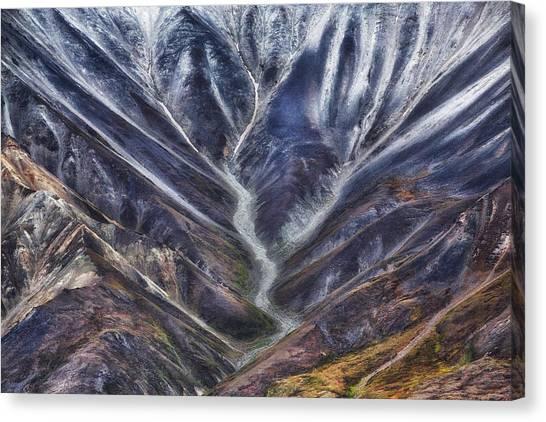 Mountain Valley Canvas Print - Untitled by Atul Chopra