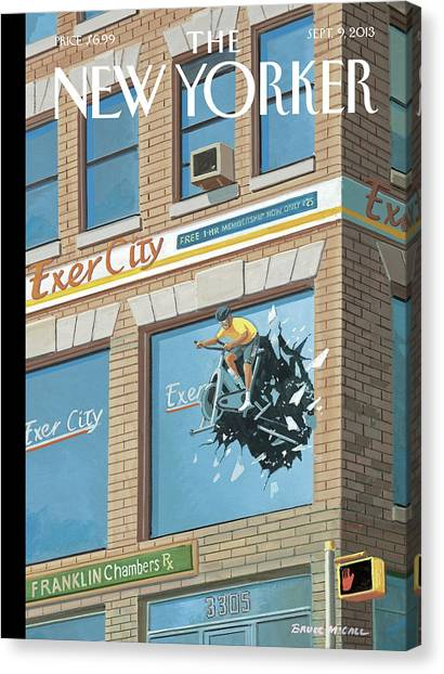 2013 Canvas Print - New Yorker September 9th, 2013 by Bruce McCall