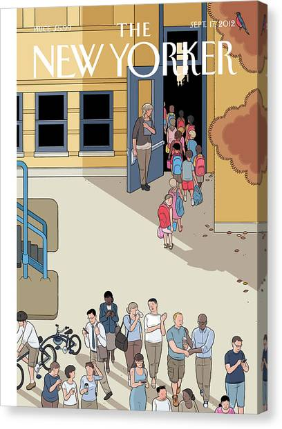 Teachers Canvas Print - New Yorker September 17th, 2012 by Chris Ware