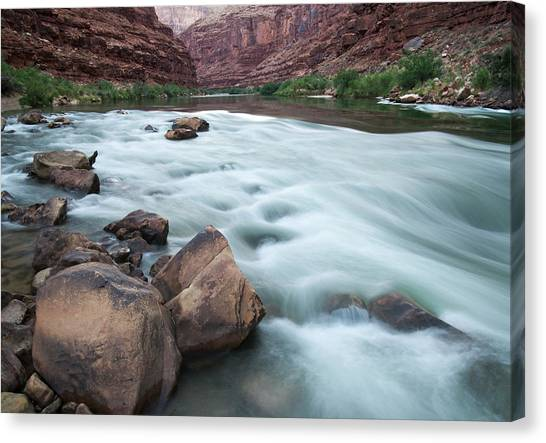 Colorado Rapids Canvas Print - Usa, Arizona, Grand Canyon, Colorado by John Ford