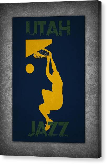 Utah Jazz Canvas Print - Utah Jazz by Joe Hamilton