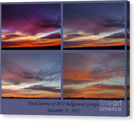 4 Views Of Sunrise 2 Canvas Print