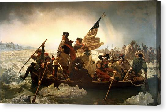 Washington Crossing The Delaware Canvas Print