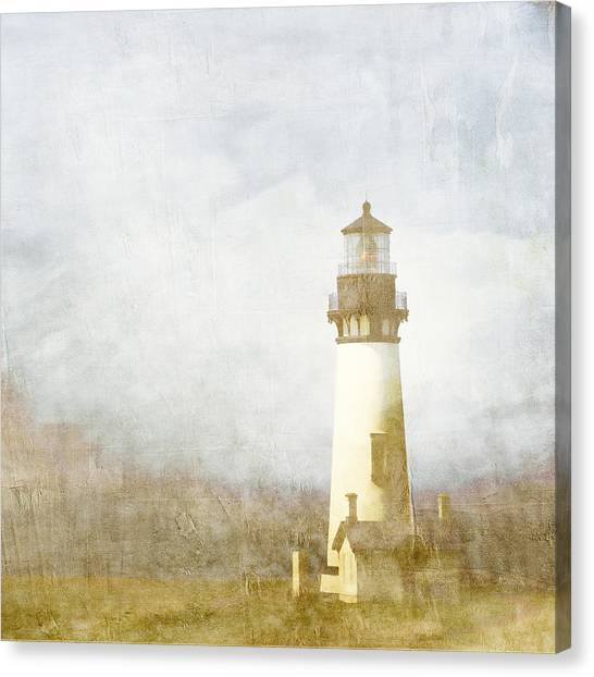 Lighthouse Canvas Print - Yaquina Head Light by Carol Leigh