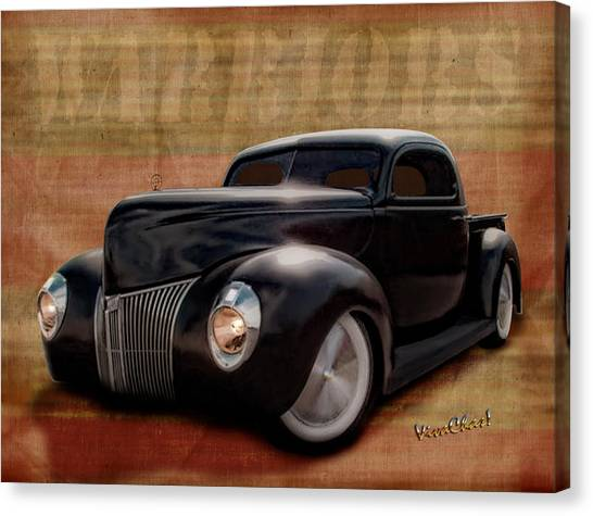 40 Ford Pickup Warriors Canvas Print