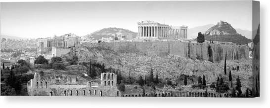 The Parthenon Canvas Print - High Angle View Of Buildings In A City by Panoramic Images