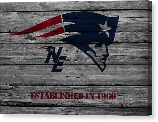 Nfl Canvas Print - New England Patriots by Joe Hamilton